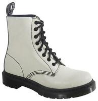 Ladies Dr Martens Pascal Boots - White & Black Cristal Suede - Uk 4 - 8