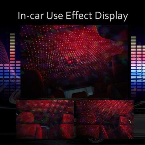 USB Car LED Interior Roof Atmosphere Star Night Light Lamp Projector Light Decor