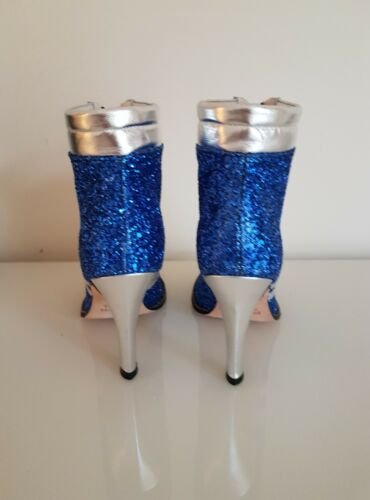 Leather £495 Blue Havilland Disco De Rrp Glitter Boot Terry Women's zgAtnFqZ