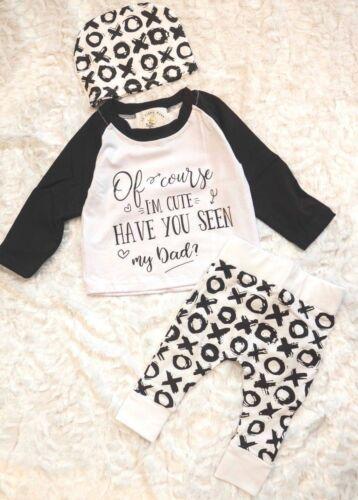NWT 3 pcs t-shirt jogger boutique cute toddler boys 1T 2T 3T 4T 5T 3-9 mo
