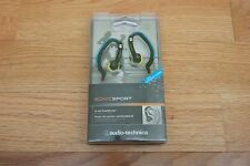 Audio-Technica Sonic Sport In-Ear Headphone IPX5 Waterproof Hinged Ear Loop ATH