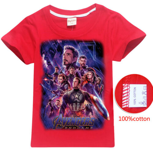 Avengers Issue Cartoon Kids T-shirts Tops Costume tshirts Fancy Dress up cadeaux
