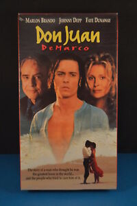 Details about VHS Brand New! DON JUAN DeMARCO Johnny Depp Marlon Brando  movie film Sealed