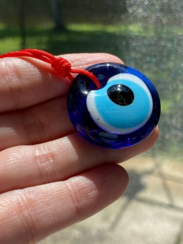 Blue Evil Eye Amulet Wall Hanging Decor  Turkish Good Luck Protection Gift  USA