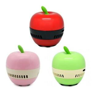 Mini Apple-shaped Desktop Coffee Table Vacuum Cleaner Dust Collector for Home