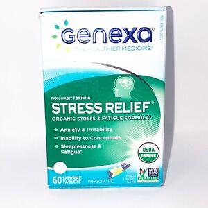 New Genexa Stress Relief Tablets Homeopathic Vanilla ...