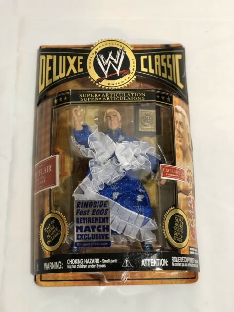 WWE DELUXE CLASSIC RINGSIDE FEST 2008 RIC FLAIR RETIREMENT WRESTLING FIGURE WCW