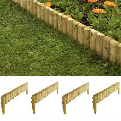 Rowlinson Wooden 9 Garden Border Fence Edging 4 Pack
