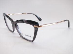 Authentic-Dolce-amp-Gabbana-DG-5025-504-Transparent-Grey-Gold-Eyeglasses-53mm