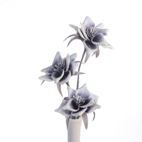Foam Flower Salerno dunkelblau//weiß m 3 Blüten