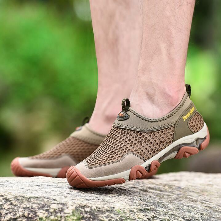 cc49ab2257b8 Mens Outdoor Casual Casual Casual Sandals Shoes Non-slip Breathable Sport  Beach Shoes Hollow S ...