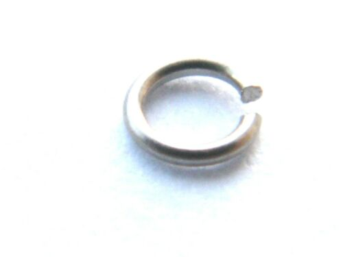 """18K-Jewellery Making 24 Gauge Wire 5x 18ct White Gold 3.0mm Jump Ring /""""Open/"""""""