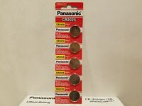 40 Panasonic Cr2025 Lithium Battery 3v Coin Cell Exp 2025