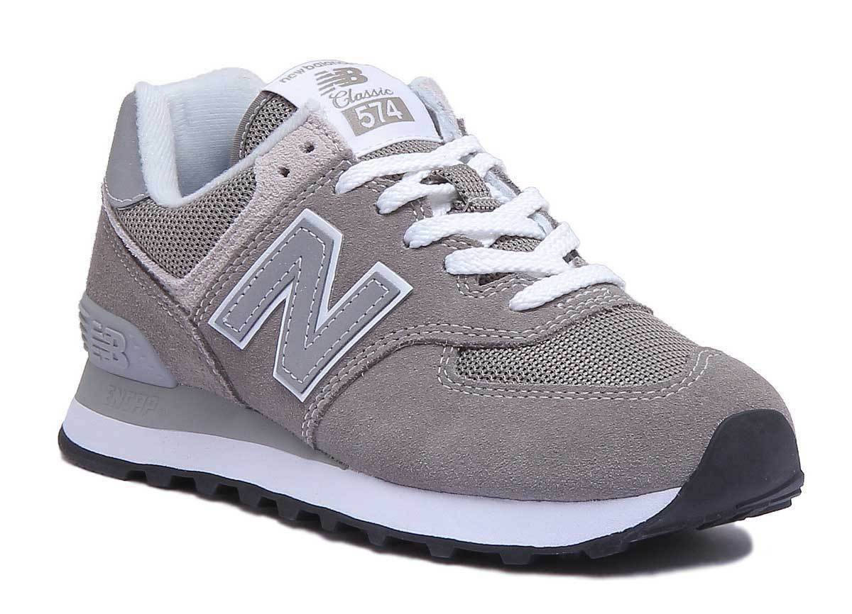 New Balance 574 ML574EGO Womens Vintage Grey and Silver Trainers UK Size 3 - 8