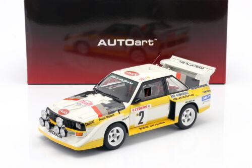 Geistdörfer 1:18 AUTOart Audi Quattro S1 #2 4th Rallye Monte Carlo 1986 Röhrl