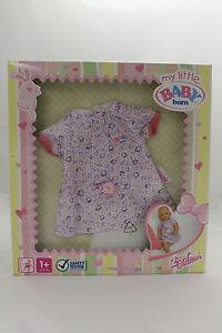 BABY-BORN-my-little-Kleider-weisses-Kleidchen-mit-lila-Bluemchen