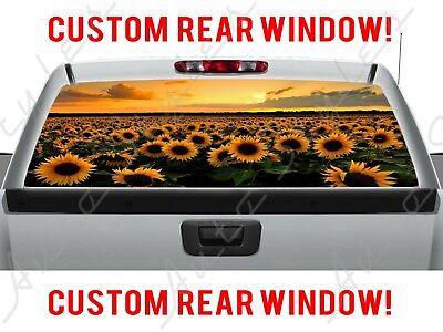 Blue Line Police Sedan Jeep Rear Side Window Perforated Vinyl American Flag Dept