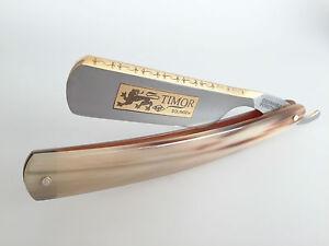 Timor Solingen Rasiermesser Gold 6/8 Carbonstahl Helles Horn GoldÄtzung Germany Alte Berufe Beauty & Gesundheit