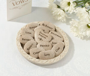 Set-Of-13-Vow-Stones-With-Plate-Wedding-Vow-Ceremony-Keepsake
