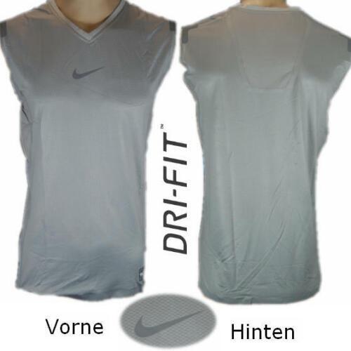 grau Nike Pro Combat Dri-FIT Funktionsshirt Kompression Ärmellos 364701-080