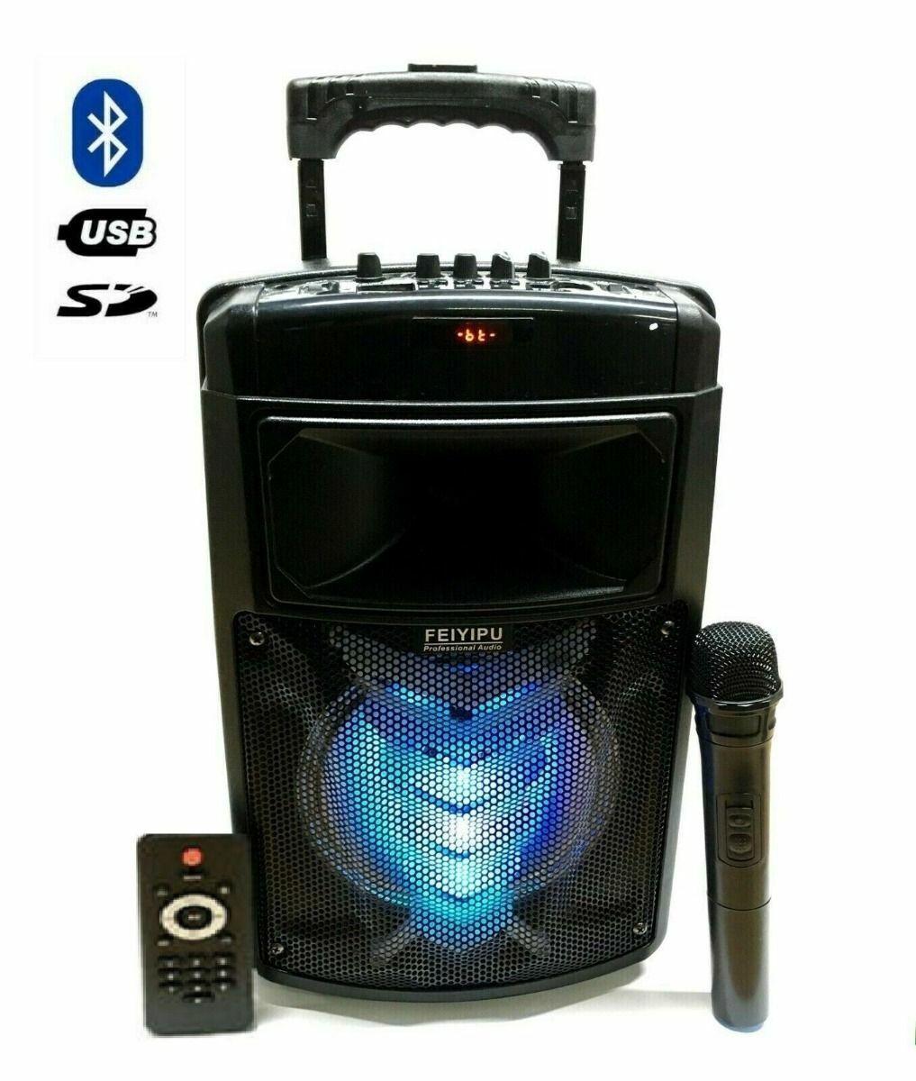 Cabinet Amplified Rechargeable Karaoke trolley with 2000 Watt Microphone