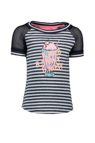 ♥ B.NOSY Teens ♥ Mädchen T-Shirt stripe skydelig Gr.98-164 ♥ Y-903-5413-952