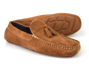72c71d2486c0f Details about Silver Street Stewart Tan Brown Suede Tasseled Loafers UK 7-12