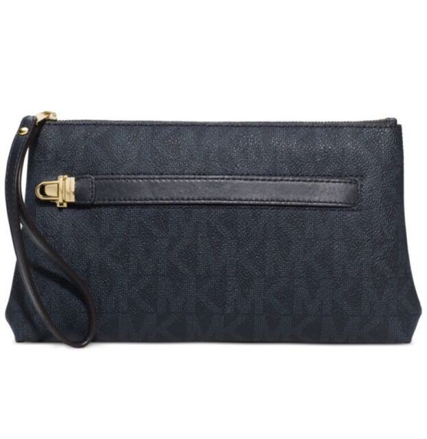 506719f5aeee Michael Kors Charlton Medium Wristlet PVC Baltic Blue- New With Tages - $98
