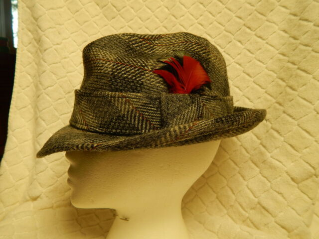 62ae20f0bcd VTG MARSHALL FIELD  CO STORE FOR MEN CLASSIC TWEED FEDORA HAT SIZE 7 ...