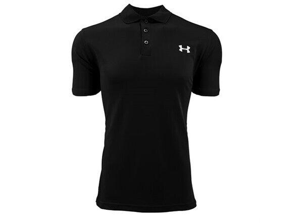 Under Armour Mens XL UA Performance Black Golf Polo Shirt 1342080