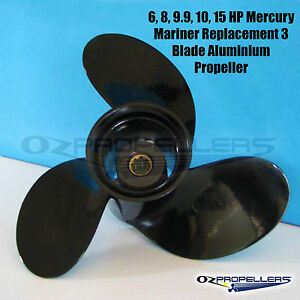 Details about Size 9 1/4 x 7 MERCURY MARINER 6-15HP Propeller 3 Blade  Aluminium Outboard Prop