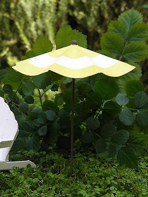 Miniature FAIRY GARDEN Accessories ~ Mini Rustic Red /& White Beach Umbrella NEW
