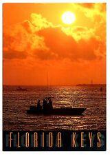 Florida Keys Postcard Sunset Fishing Boat Water Beautiful Day Unposted