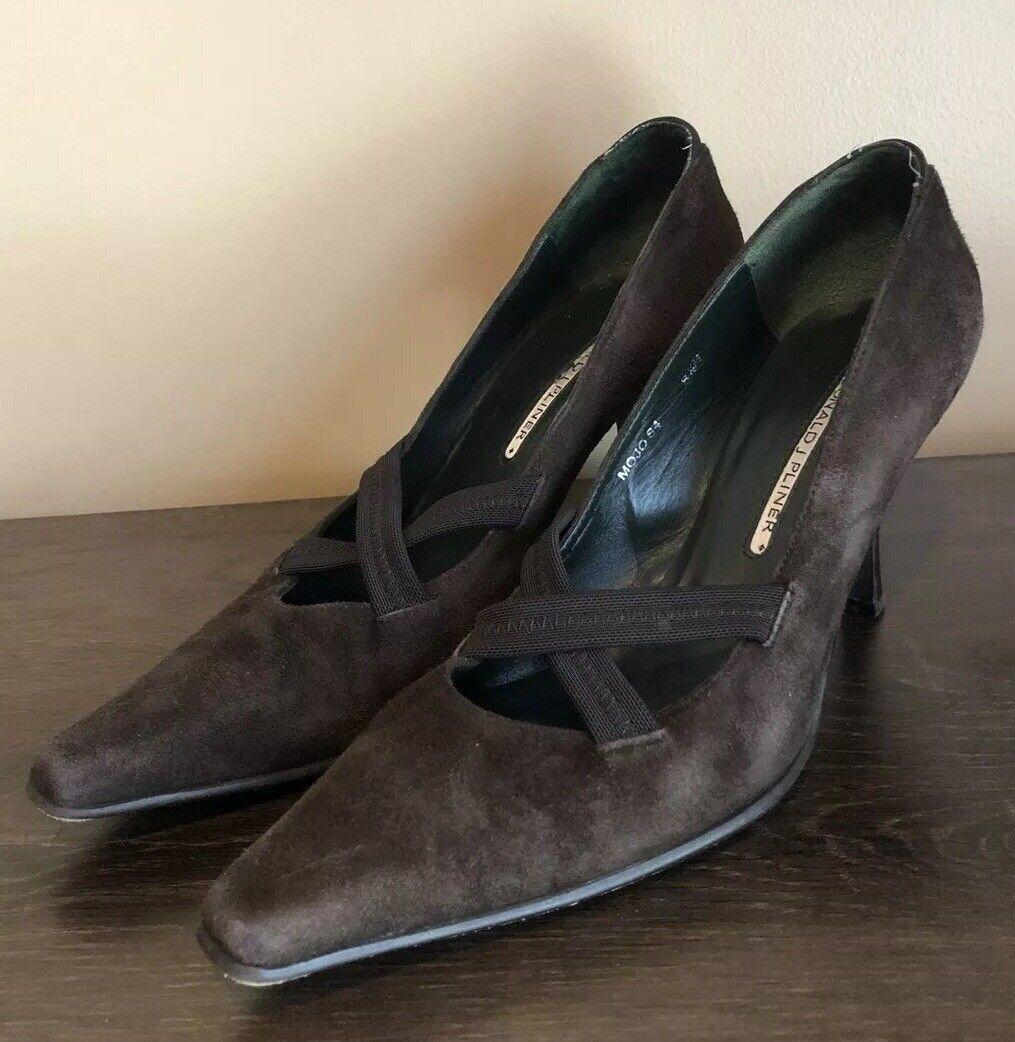 damen Donald J. Pliner braun Suede Pumps Heels Größe 8.5