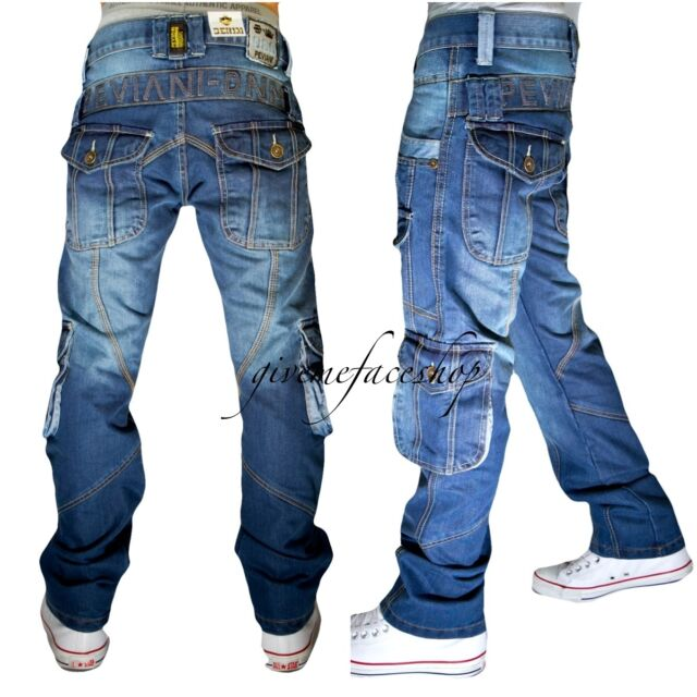 Peviani cargo/combat g jeans, 10 pocket denim urban time is money star wash pant