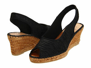 f87266fa4 Details about Women s Azura By Spring Step Espadrille Wedge Sandal Jeanette  Black