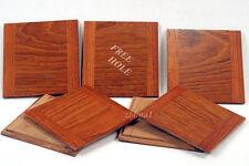 "1 Wooden Lens Board  4"" x 4"" for Deardorff  5"" x 7"" Solid Jatoba,  Free hole"