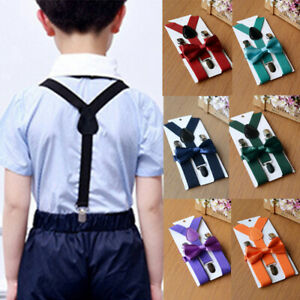 US-Adjustable-Suspender-and-Bow-Tie-Set-for-Baby-Toddler-Kids-Boys-Girls-Child