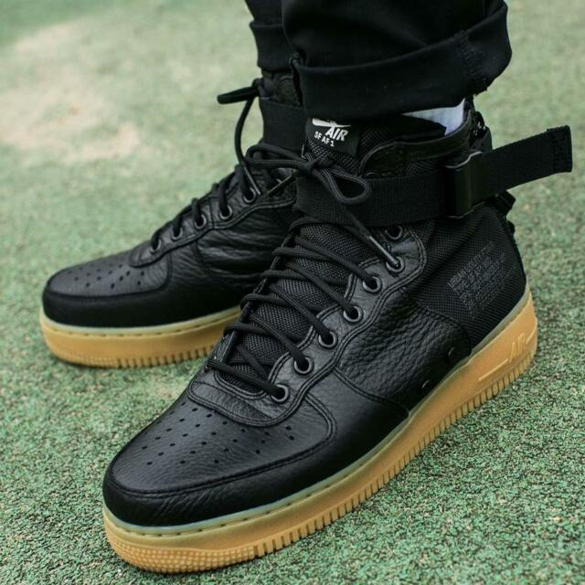 Nike SF AF1 Mid UK 7 EUR 41 Men's Black Gum Special Field Boots 917753 003