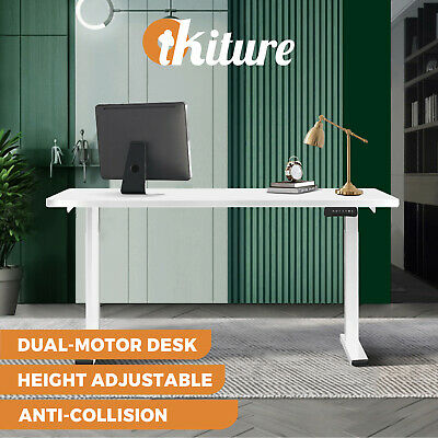 Details about  Oikiture Standing Desk Motorised Sit Stand Table Dual Motor Height Adjustable
