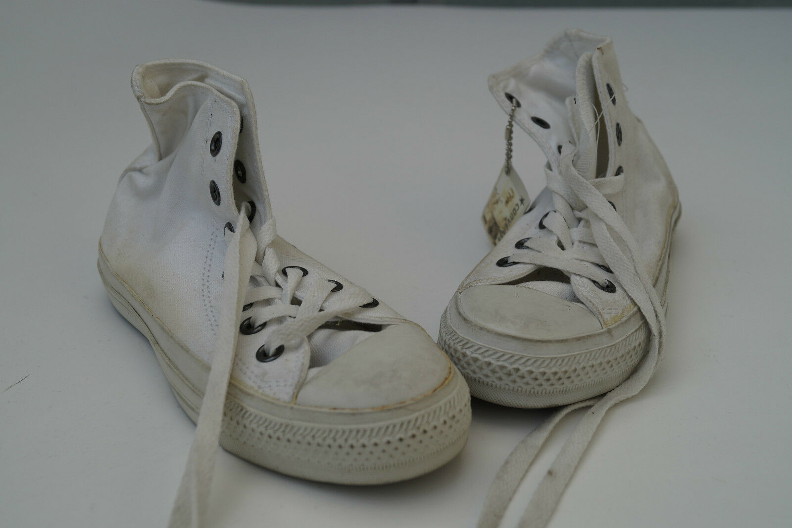 All star Converse Femmes Chaussures Fille Baskets Chuck taille 36 blanc top #3