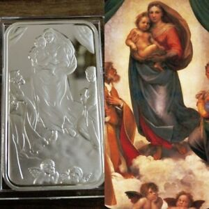 999 Fine Silver Bar Bullion 1 Troy Oz The Sistine