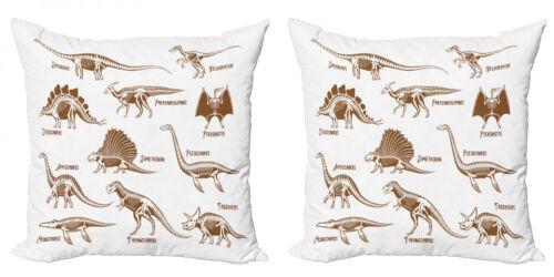 Velociraptor 2 Teiliges Kissenbezugs Set Reptile Antike Dinos