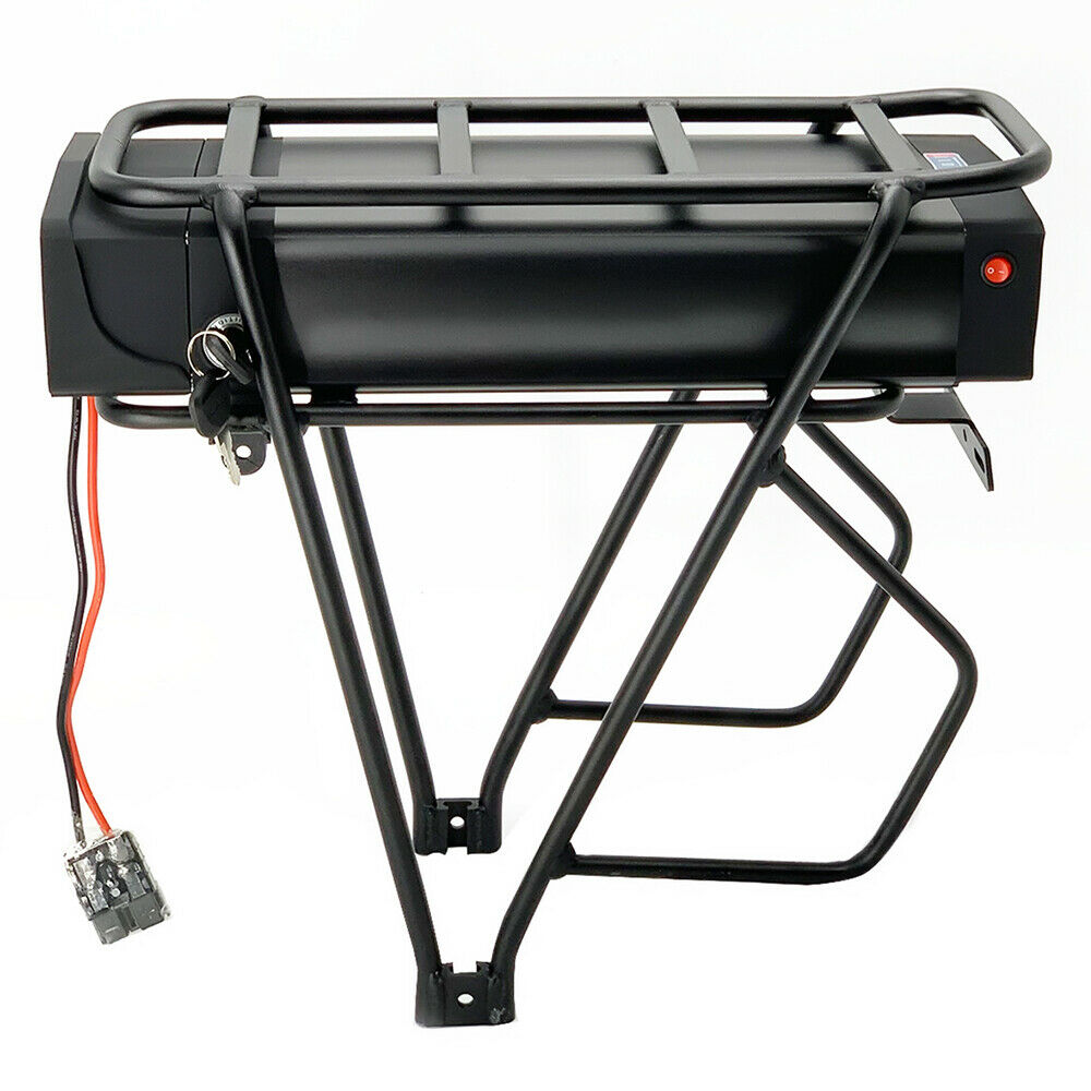Rear Rack 1000W 48V 20Ah with Charger 48V Electric Bike Battery Luggage Hanger