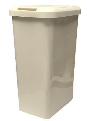 45 L Touch Top crème poubelle de cuisine Poubelle Déchets Poubelle rectangle plastique