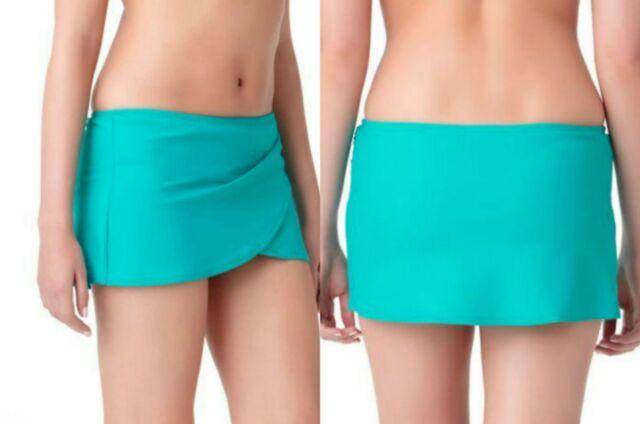 Womens Ladies Skirted Bikini Bottoms Swim Skirt Briefs Built In Modest Swimming