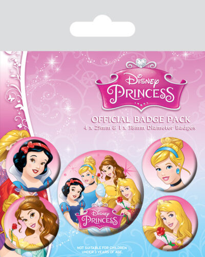 Mickey Mouse Badge Set of 5 Disney Minnie Princess Frozen Snow White Patch