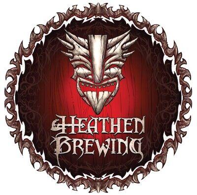 HEATHEN BREWING Transcend Vancouver Mega Dank STICKER decal craft beer brewery