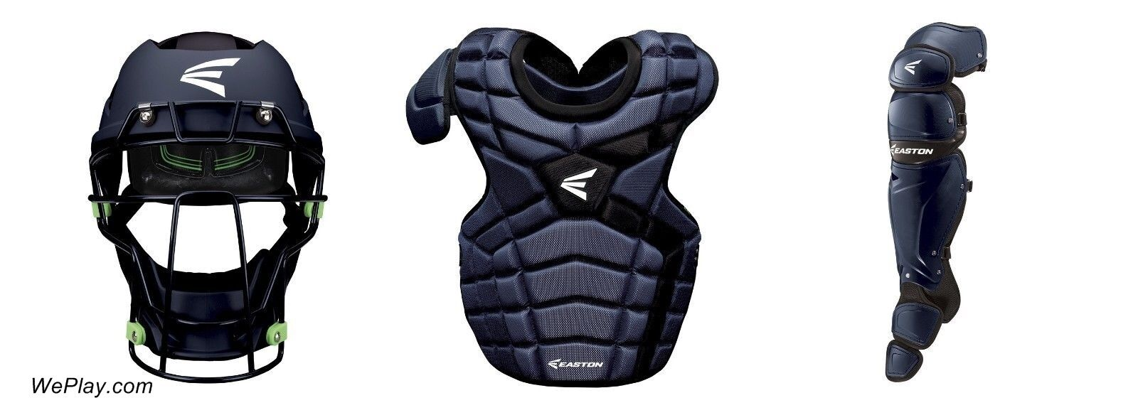 Easton Mako II béisbol atrapasueños Gear Set Paquete intermedio Kit Azul Marino Nuevo