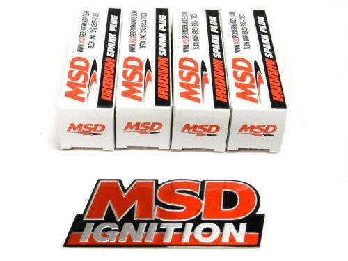 MSD IRIDIUM SPARK PLUGS FOR 99-05 MAZDA MIATA MX5 1.8L NB FREE MSD EMBLEM